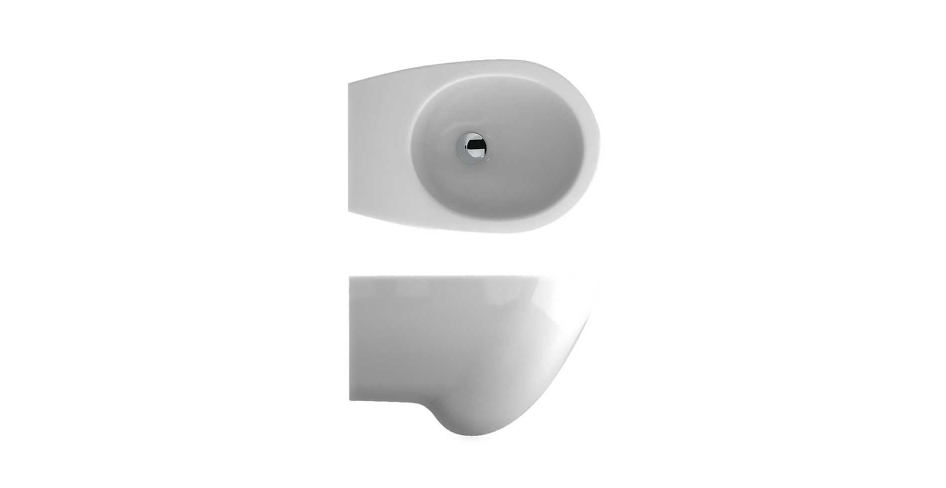 Bowl ceramic sanitary ware toilet | Bathroom deco inspired in nature egg shape | Design by Antonio Pascale for Ceramica Globo