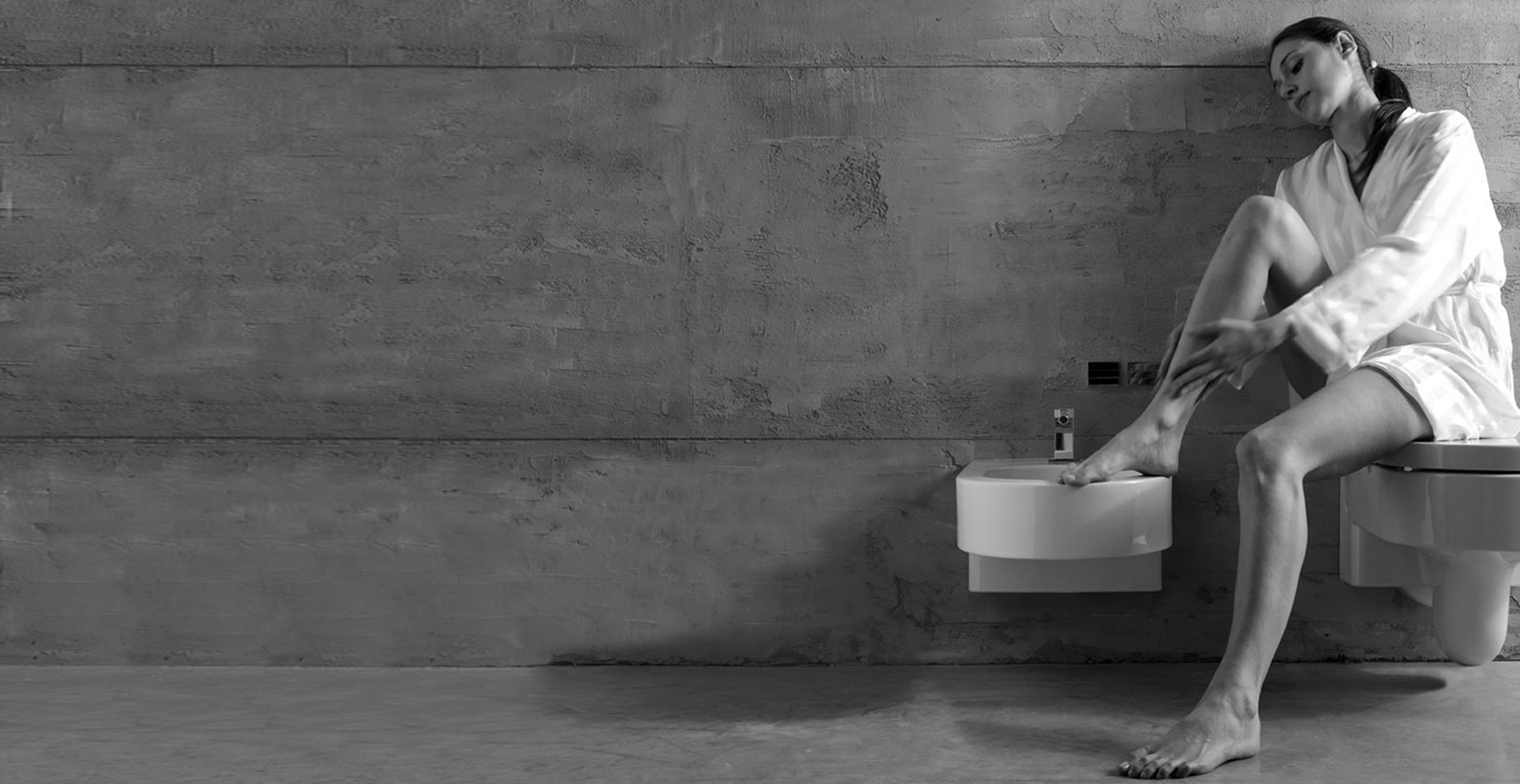 Bathroom deco Ceramic sanitary ware toilet | Collection OpenSpace | Design by Antonio Pascale for Ceramica Globo