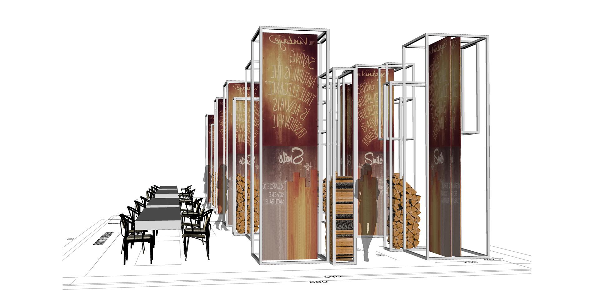 Antonio Pascale Design   Cersaie 2015 Exhibition Stand for Gazzotti