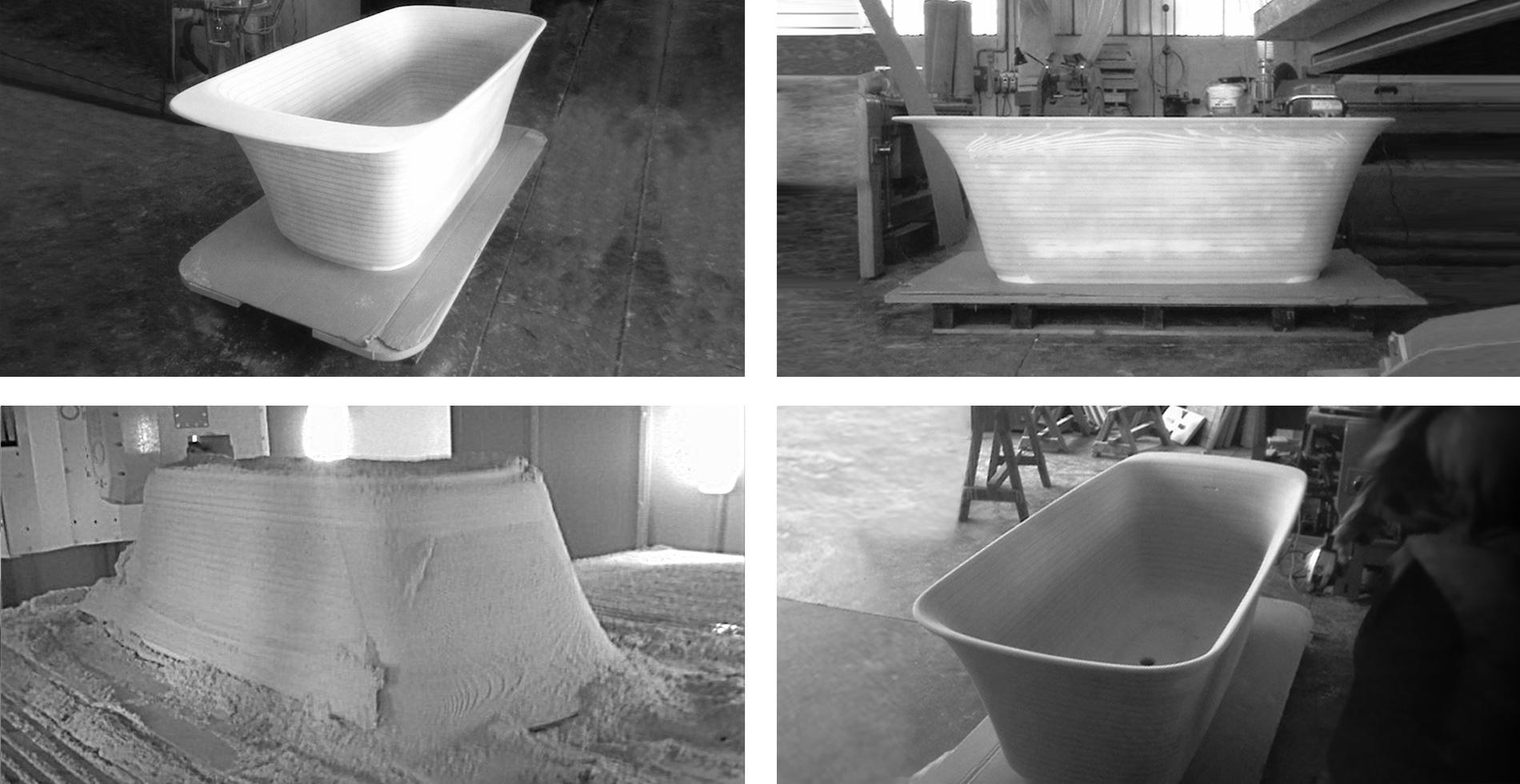 RELAIS bathtub made of pietraluce for Ceramica Globo | Design Antonio Pascale | Made in Italy