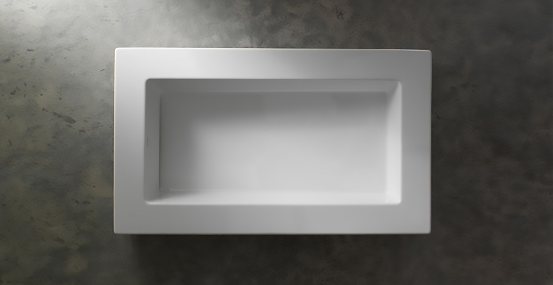 SpaceFree ceramic washbasin - bathroom deco   Design Antonio Pascale for Ceramica Globo